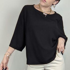 Oak & Fort Minimalist chic Crepe blouse top